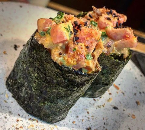 curso sushi rolls